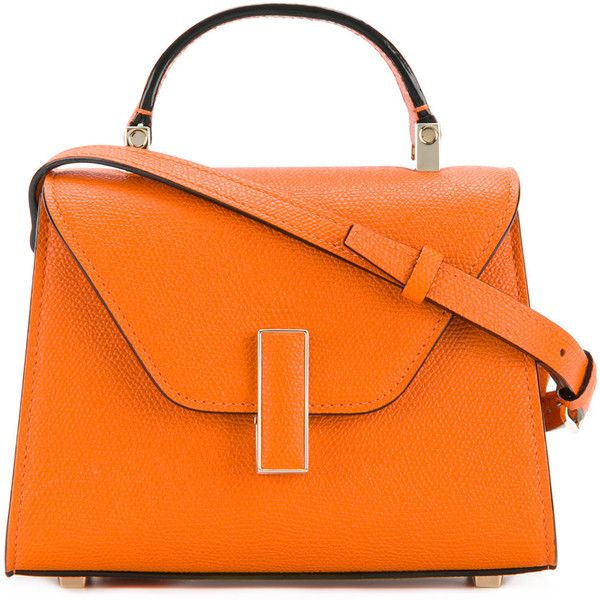 Valextra Iside cross-body bag ($1,980) ❤ liked on Polyvore featuring bags, handbags, shoulder bags, unavailable, orange shoulder bag, orange purse, genuine leather purse, crossbody handbag and crossbody purse