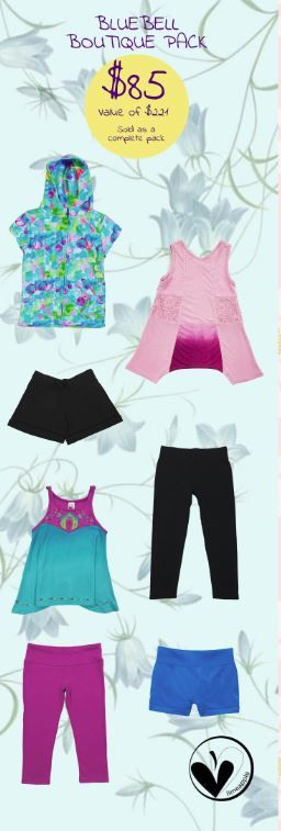 Our exclusive Limeapple Summer Boutique Bluebells pack has everything your daughter needs this summer, from a comfy leggings to a lace dip dye top and a cozy bubble hoodie to complete each outfit.  Limited time offer shop now !