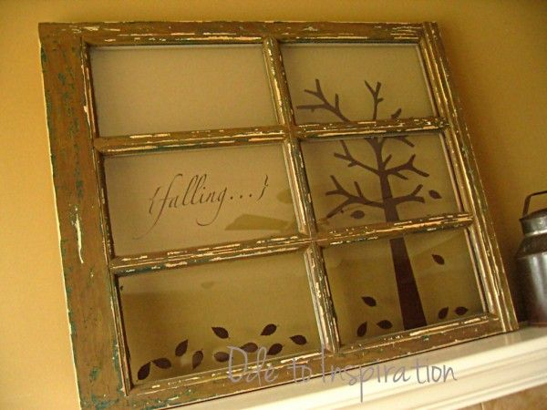 old window crafts | Feature: Old Window Decor For The Fall Season | Rustic Crafts & Chic ...