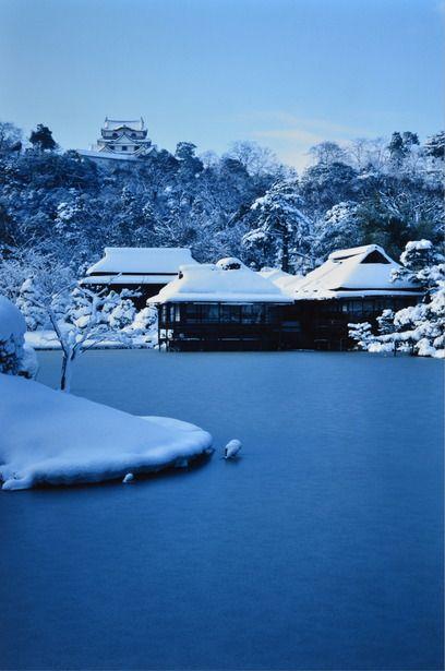 Snow in Hikone Castle, Shiga, Japan