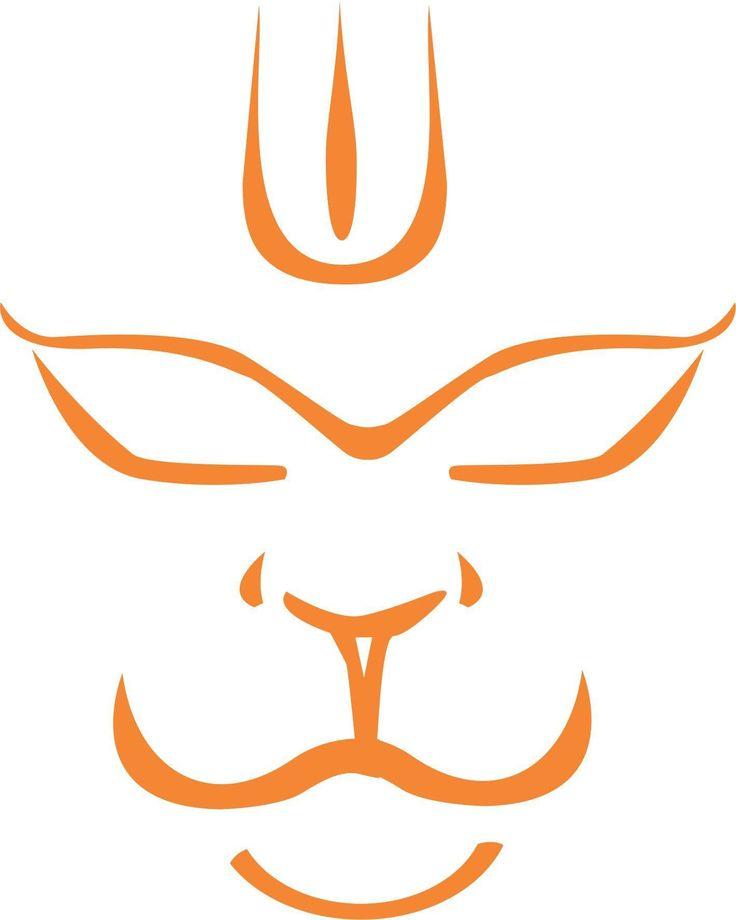 www.indiashopps.com automotive idesign-hanuman-face-windows-car-sticker-price-in-india-32431286-1