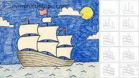 Kolay Gemi çizimi Evimin Altın Topu Art Drawings Ship Art Ve Art
