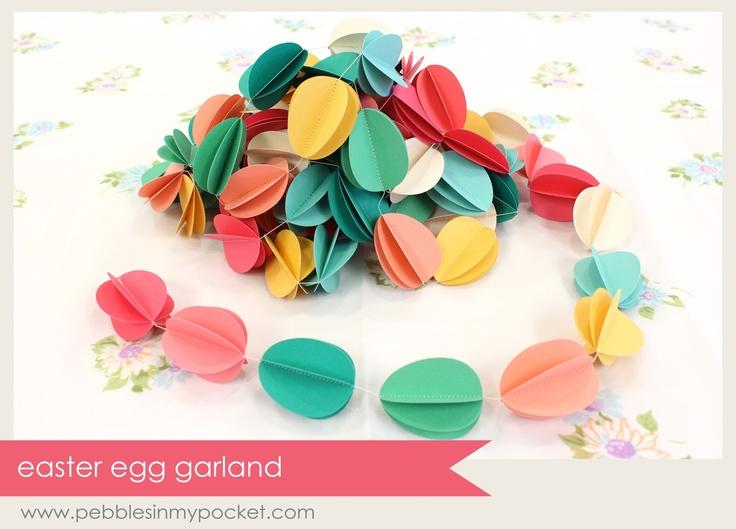 Pebbles In My Pocket Blog: Easter egg garland