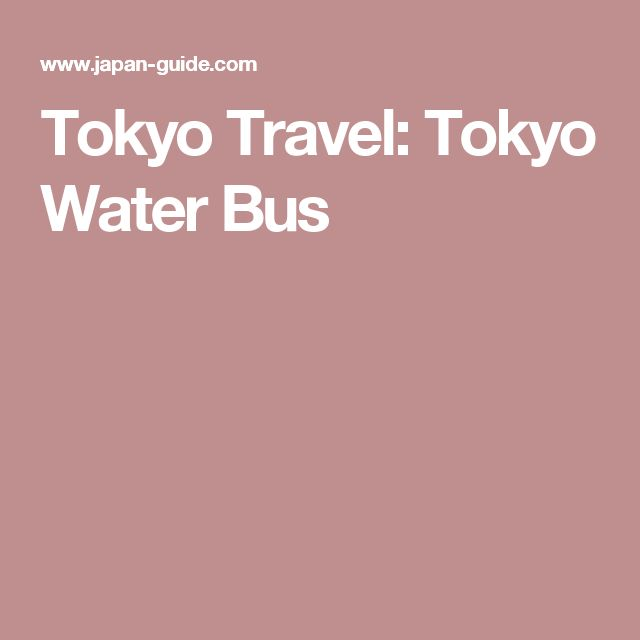 Tokyo Travel: Tokyo Water Bus
