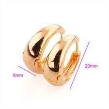 Resultado de imagen para aretes de argollas de oro