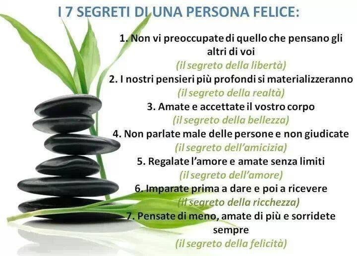 I 7 segreti di una persona felice #felicita'