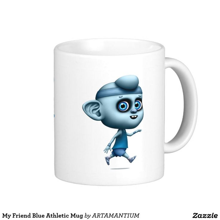 My Friend Blue Athletic Mug