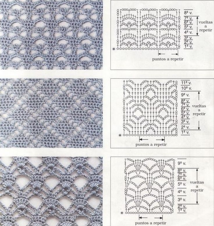 A selection of crochet patterns