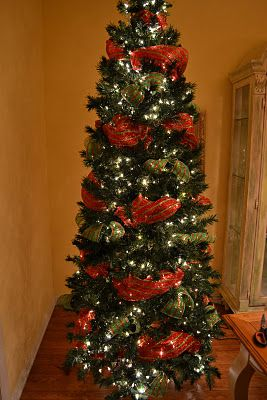 Decorating A Christmas Tree With Mesh Ribbon Tutorial I