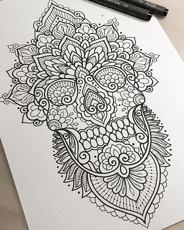 Love the sugar skull incorporated into design