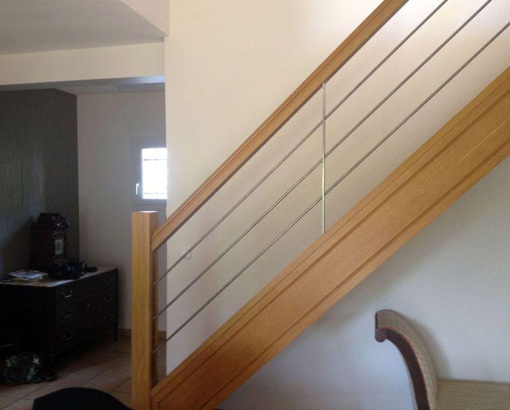 rampe escalier bois et métal - Recherche Google