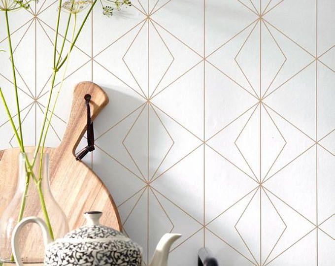 AuBergewohnlich Geometrische Behang, Self Adhesive, Tijdelijke, Verwisselbare Kwekerij Mb098