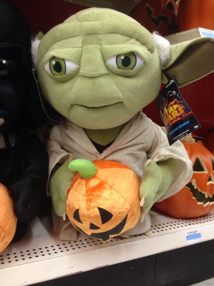yoda with jack o lantern halloween decoration at kmart - Kmart Halloween Decorations