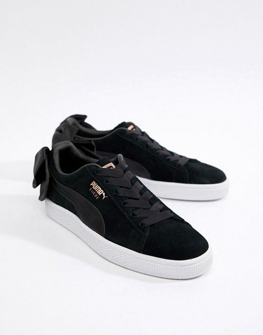 6dfa15ac655 Puma Suede Bow Sneakers In Black | My Style | Puma bow sneakers ...