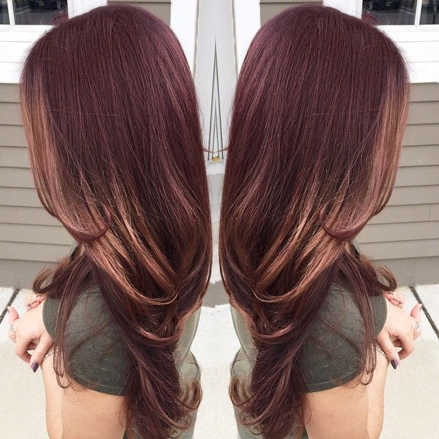 RED BROWN GOLD FALL HAIR HAIRCOLOR BALAYAGE SOMBRÉ OMBRÉ HIGHLIGHT _ajquinones's photo on Instagram
