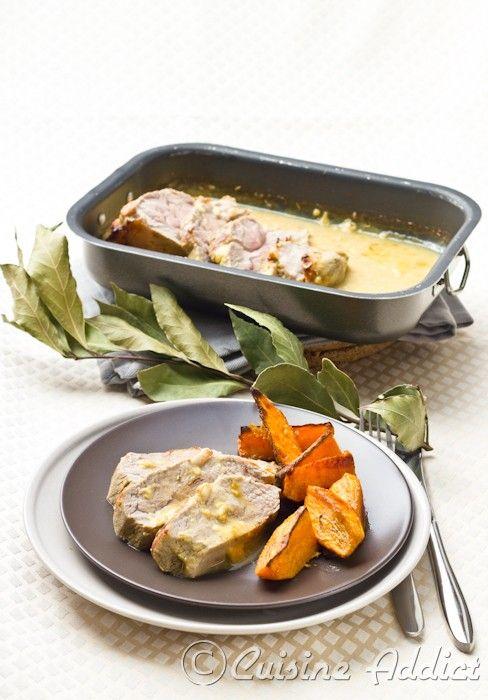 Noix de veau braisée à la Moutarde et au Miel & Frites de Patates douces - Cuisine Addict - Food & Travel