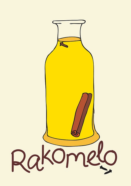 Rakomelo : Greek Raki and Honey!