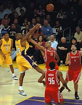 Kobe Bryant is one of my favorite players in the NBA. I love his fade away that he can do really well.