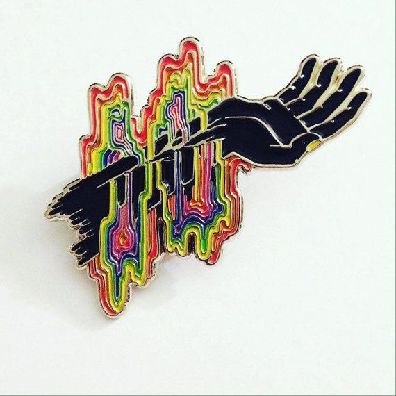 I Bleed Rainbows enamel pin by LudicrousAlien on Etsy
