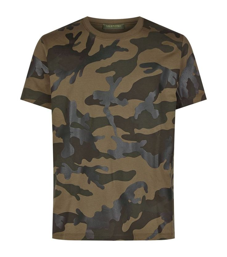 Valentino Bonded Camouflage T-Shirt Camouflage 345 GBP.