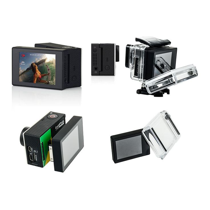 Gopro LCD BacPac Display Screen + LCD Version Waterproof Protective Housing Case BacPac Backdoor Cover For Gopro Hero 3 3+ 4