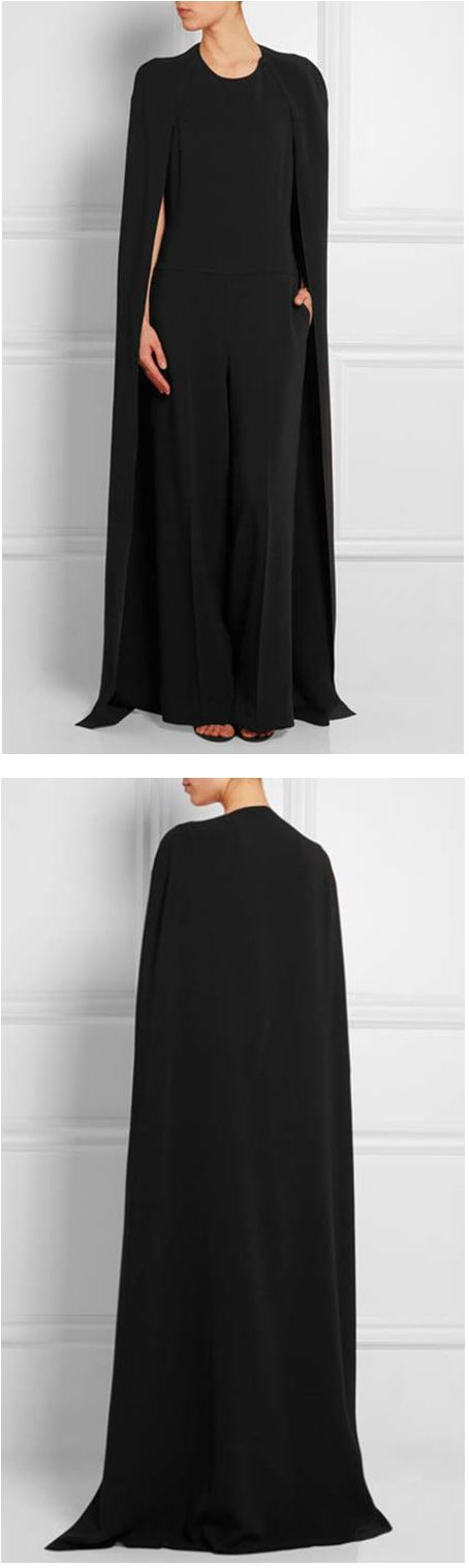 stella maccartney crepe cape-back jumpsuit | spring 2015