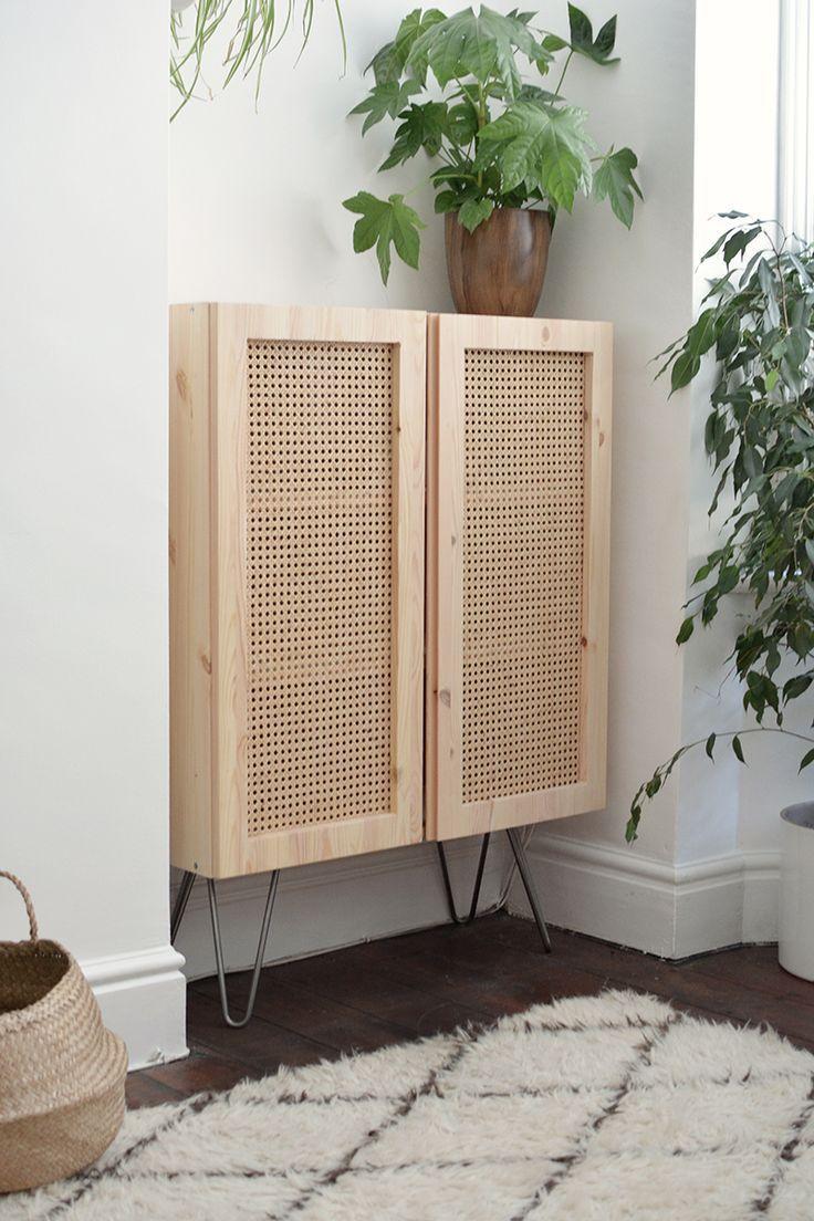 DIY cane cabinet | Ikea diy, Dekor und Haus deko