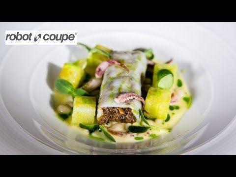Michelin star chef Simon Hulstone creates a cannelloni of squid and oxtail recipe - YouTube