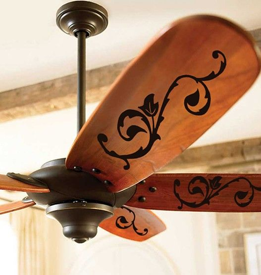 A fun way to personalize your fan blades! ~Get vinyl supplies at http://cricketvinylsupplies.com