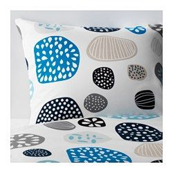 IKEA - RINGKRAGE, Duvet cover and pillowcase(s), Full/Queen (Double/Queen), , Concealed snaps keep the comforter in place.