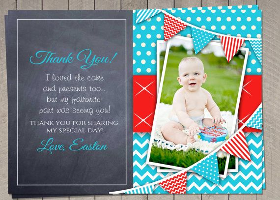 PERSONALIZED Birthday Thank You Card / by InvitaitonsByLittleP