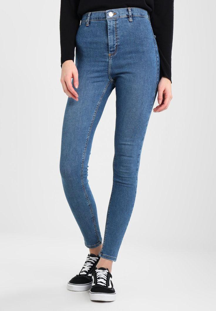Topshop JONI NEW - Jeans Skinny Fit - mid denim - Zalando.pl