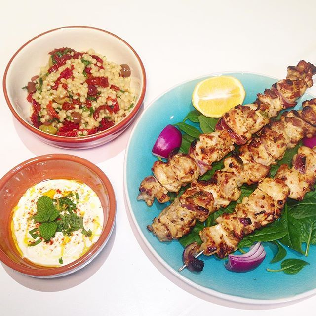 """""""Chicken marinated in @thecollectivenz plain yoghurt and spices with Israeli cous cous on the side. Photo taken by @danandchristie on Instagram, pinned via the InstaPin iOS App! http://www.instapinapp.com (07/09/2015)"""