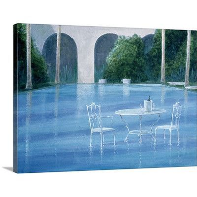 Canvas On Demand Shallow End by Lincoln Seligman Painting Print on Canvas