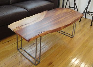 Square Wood Table Metal Legs Google Search Dinning