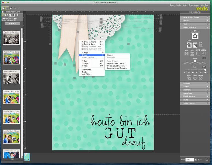My Digital Studio Objekte gruppieren