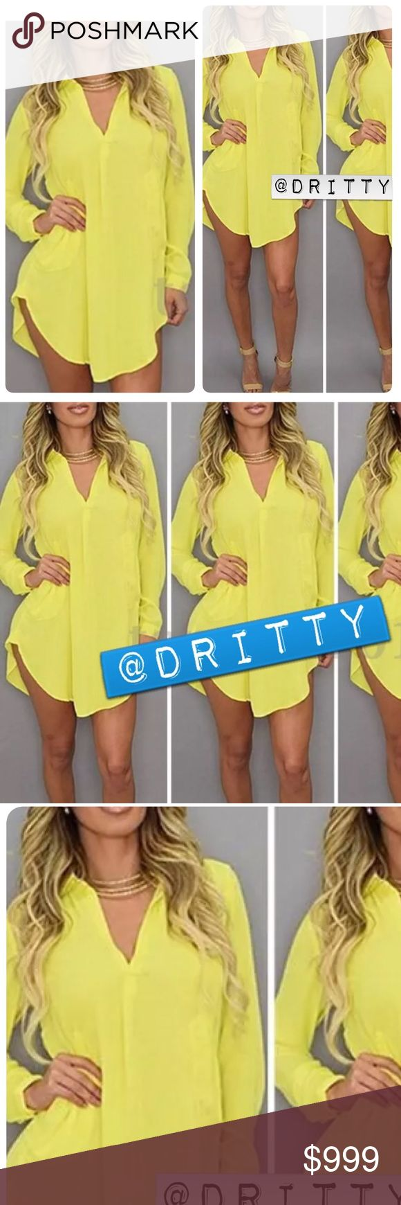 Coming Soon! Beautiful Canary Mini Dress! Sext, Casual, and the color screams fashion! Rock this baby with some tan/khaki heels to complete your look! Dresses Mini
