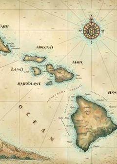 Hawaiian Islands map