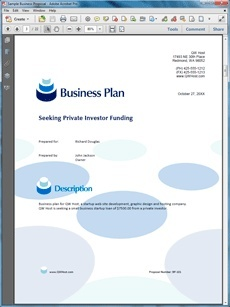 Web Hosting Business Plan Sample  Create Your Own Custom Proposal