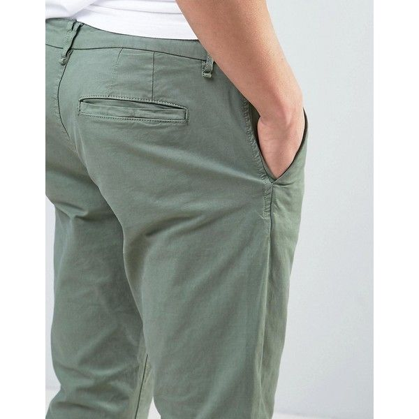 Only & Sons Slim Fit Chino ($33) ❤ liked on Polyvore featuring men's fashion, men's clothing, men's pants, men's casual pants, mens chino pants, mens slim pants, mens slim fit chino pants, mens tall pants and mens chinos pants