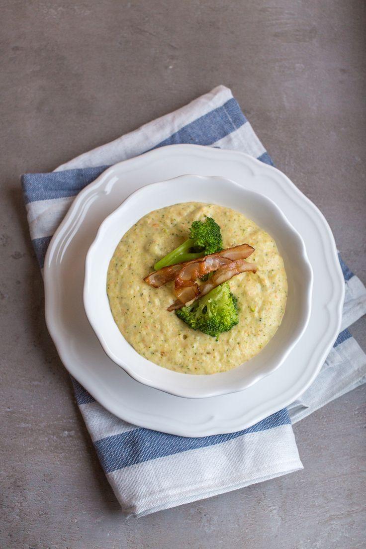 крем–суп с брокколи и чеддером
