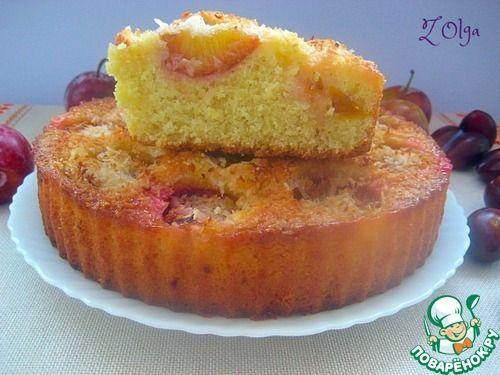 Сливово-кокосовый пирог