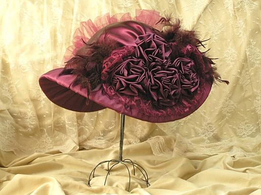 Victorian Hat - Wine
