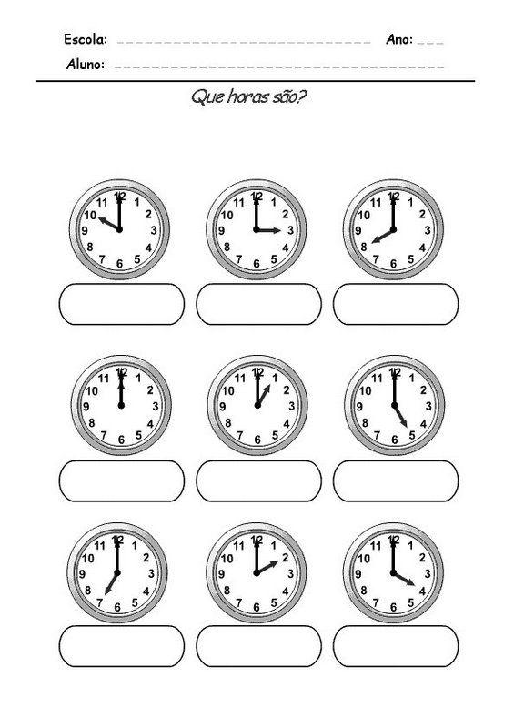 Mejores 77 imágenes de el reloj en Pinterest   Las horas, Clases de ...