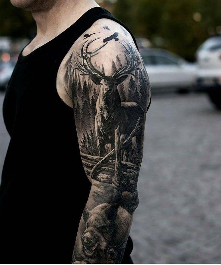 Best 25+ Elk Tattoo Ideas On Pinterest