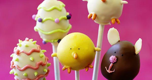 Supersött påskgodis! Baka egna cakepops och dekorera till påsk.     Recept från boken Macarons, cupcakes, cakepops.