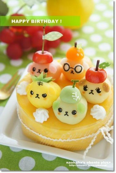 Mameshiba mashed potatoes cake & omelet  ♥ Dessert