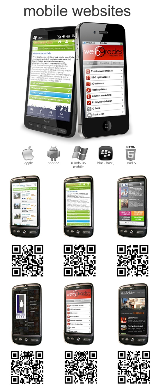 Some of my last mobile websites i recently made.