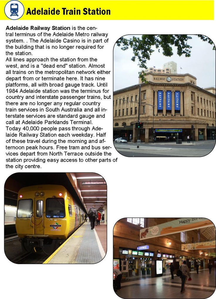 Adelaide train station, Adelaide, South Australia