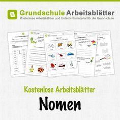 Kostenlose Arbeitsblätter und Unterrichtsmaterial für den Deutsch-Unterricht zum Thema Nomen in der Grundschule.